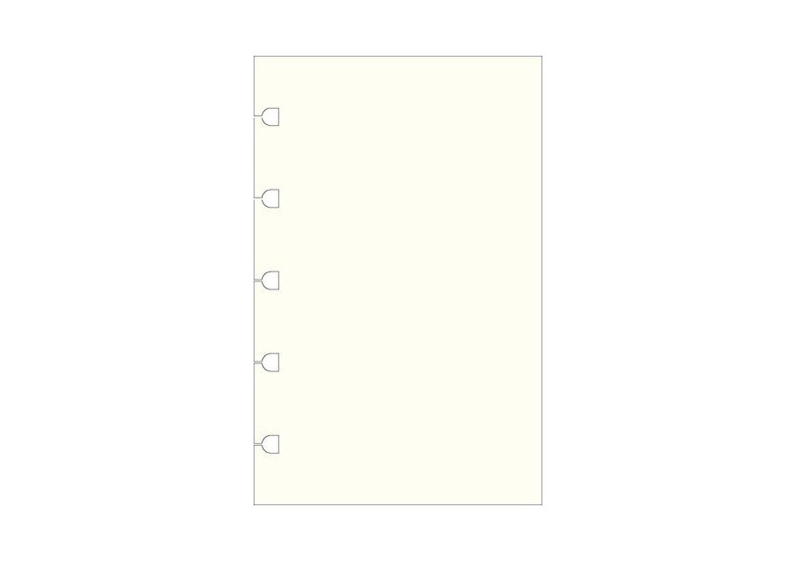 Filofax Refill for Pocket Notebook Pocket Notes White Plain for Notebook